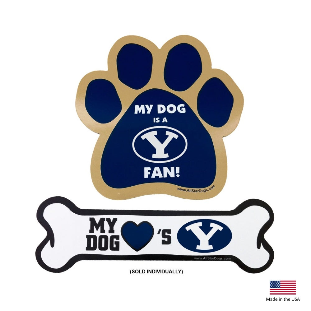 Brigham Young Cougars NCAA Car Magnets Pet Dog by All Star Dogs
