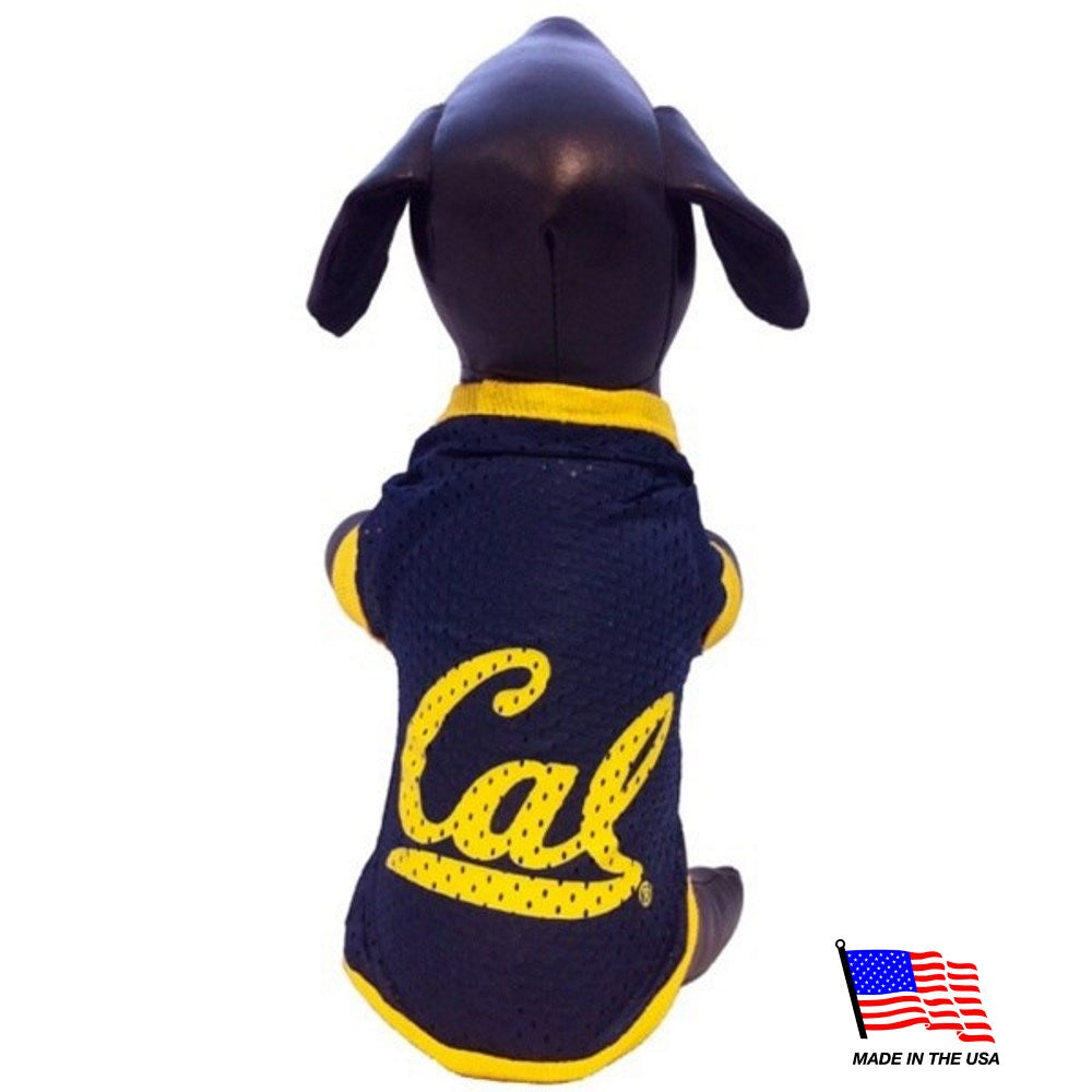California Berkeley NCAA Athletic Mesh Pet Dog Jersey by All Star Dogs