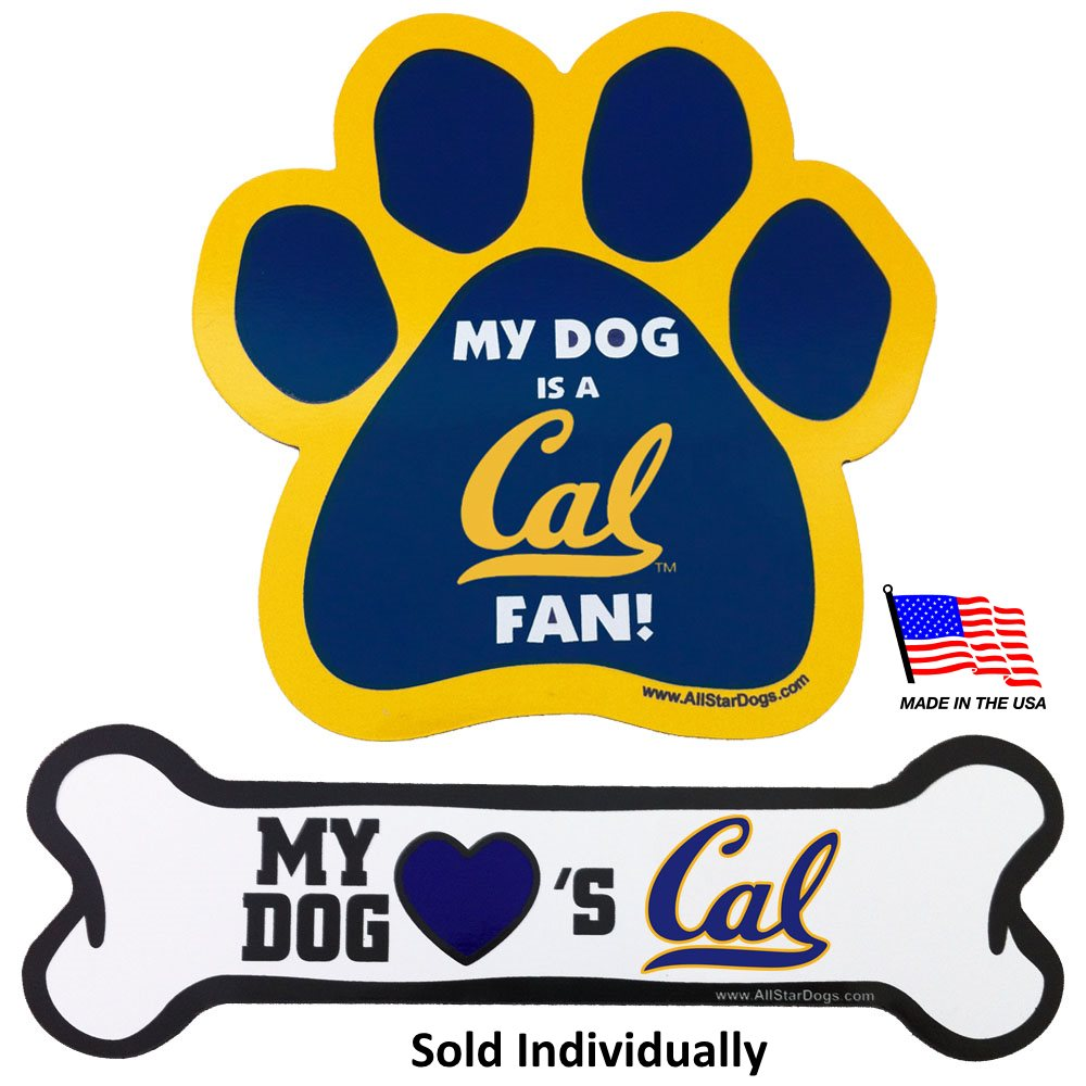 California Berkeley NCAA Car Magnets Pet Dog by All Star Dogs