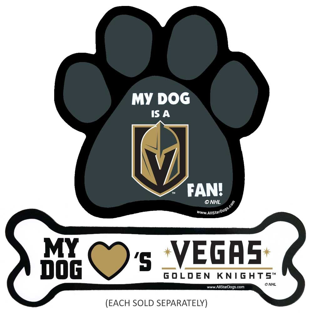 Vegas Golden Knights NHL Car Magnets Pet Dog by All Star Dogs