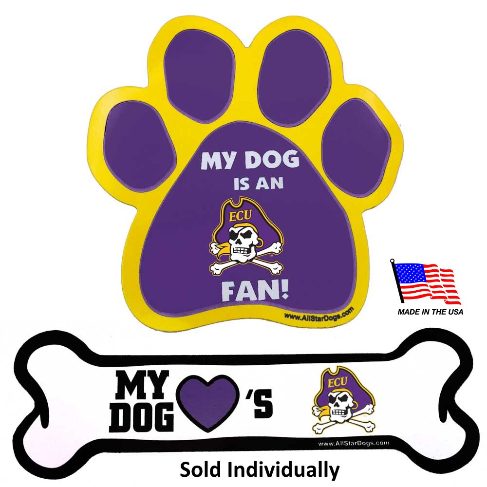 East Carolina Pirates NCAA Pirates Car Magnets Pet Dog by All Star Dogs