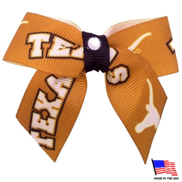 Texas Longhorns NCAA Pet Dog Hair Bow by All Star Dogs