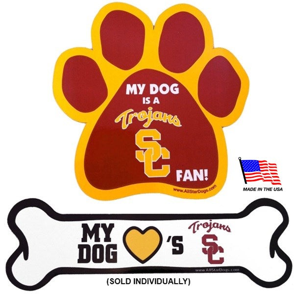 USC Trojans NCAA Car Magnets Pet Dog by All Star Dogs