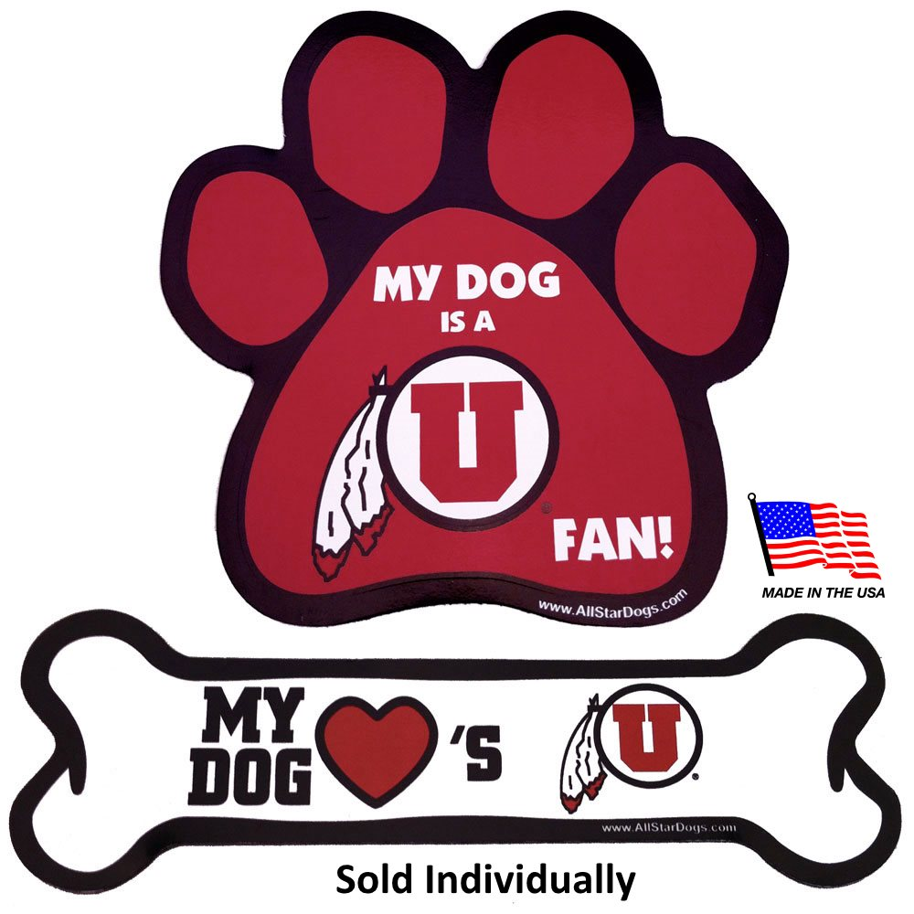 Utah Utes NCAA Car Magnets Pet Dog by All Star Dogs