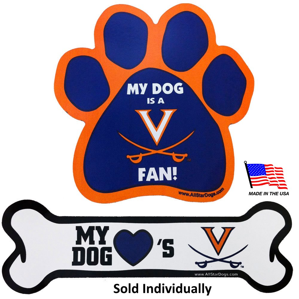 Virginia Cavaliers NCAA Car Magnets Pet Dog by All Star Dogs