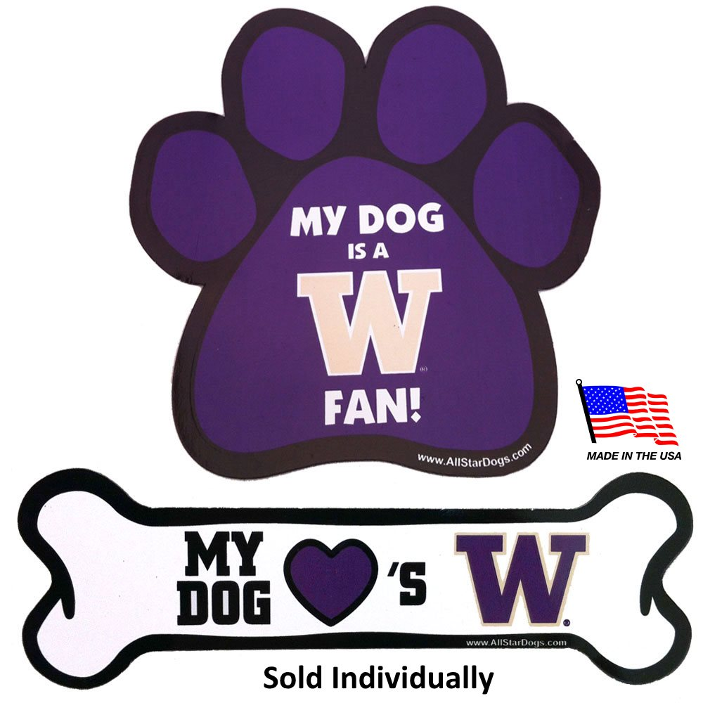 Washington Huskies NCAA Car Magnets Pet Dog by All Star Dogs