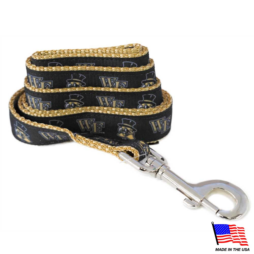 Wake Forest Demon Deacons NCAA Pet Dog Leash by All Star Dogs