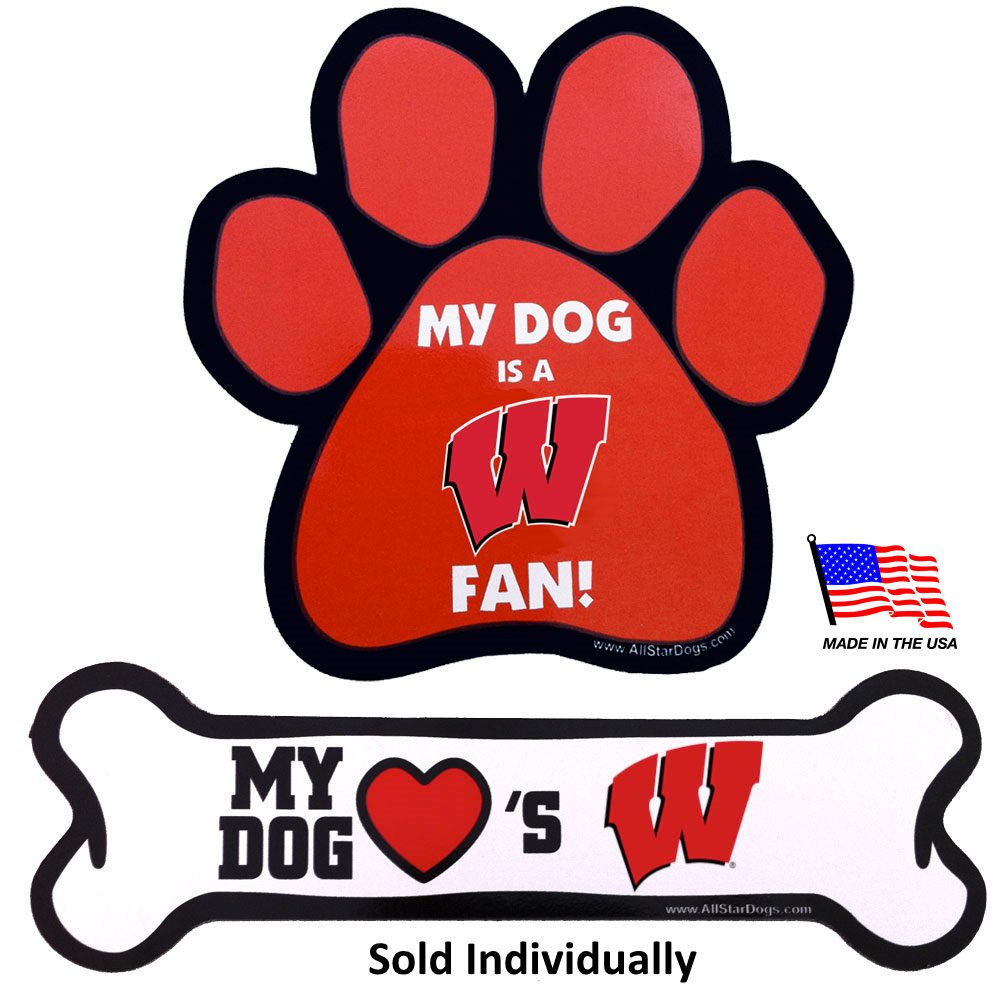 Wisconsin Badgers NCAA Car Magnets Pet Dog by All Star Dogs