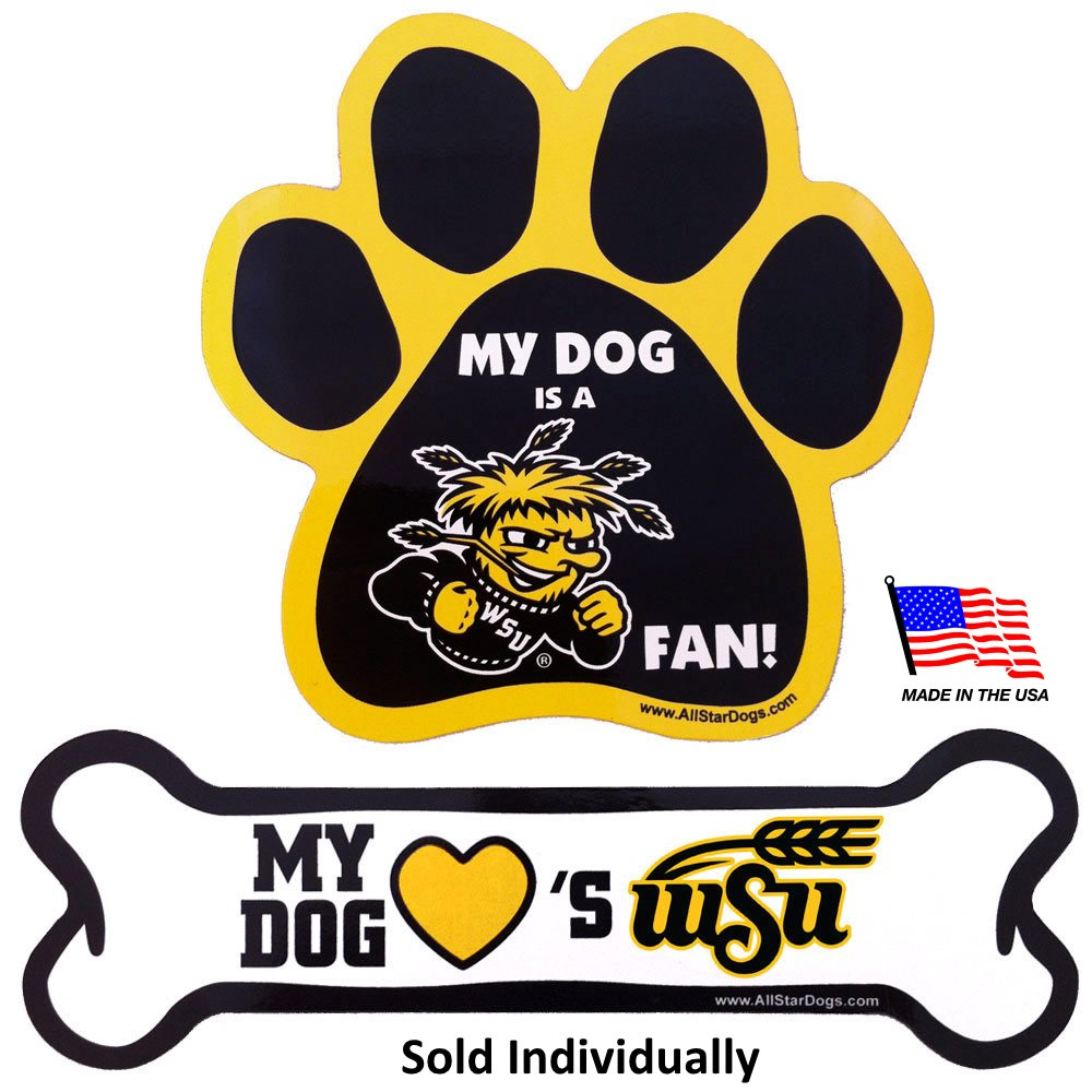 Wichita State Shockers NCAA Car Magnets Pet Dog by All Star Dogs