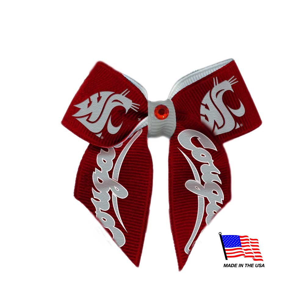 Washington State Cougars NCAA Pet Dog Hair Bow by All Star Dogs