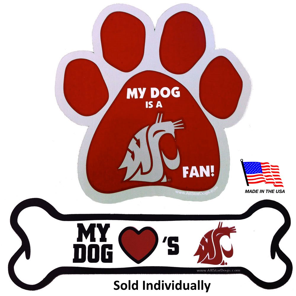 Washington State Cougars NCAA Car Magnets Pet Dog by All Star Dogs