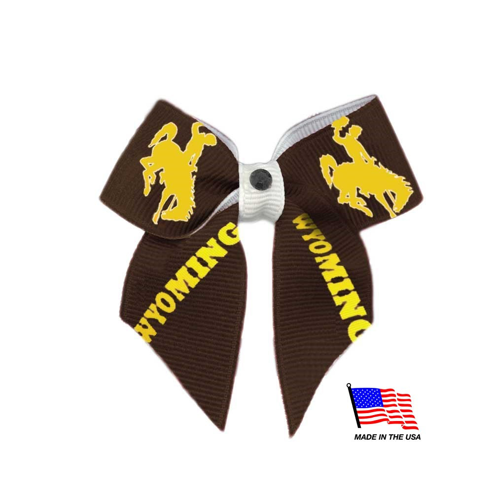 Wyoming Cowboys NCAA Pet Dog Hair Bow by All Star Dogs