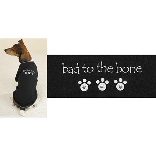 Bad to the Bone Studded Pet Dog Tee by Pet Edge