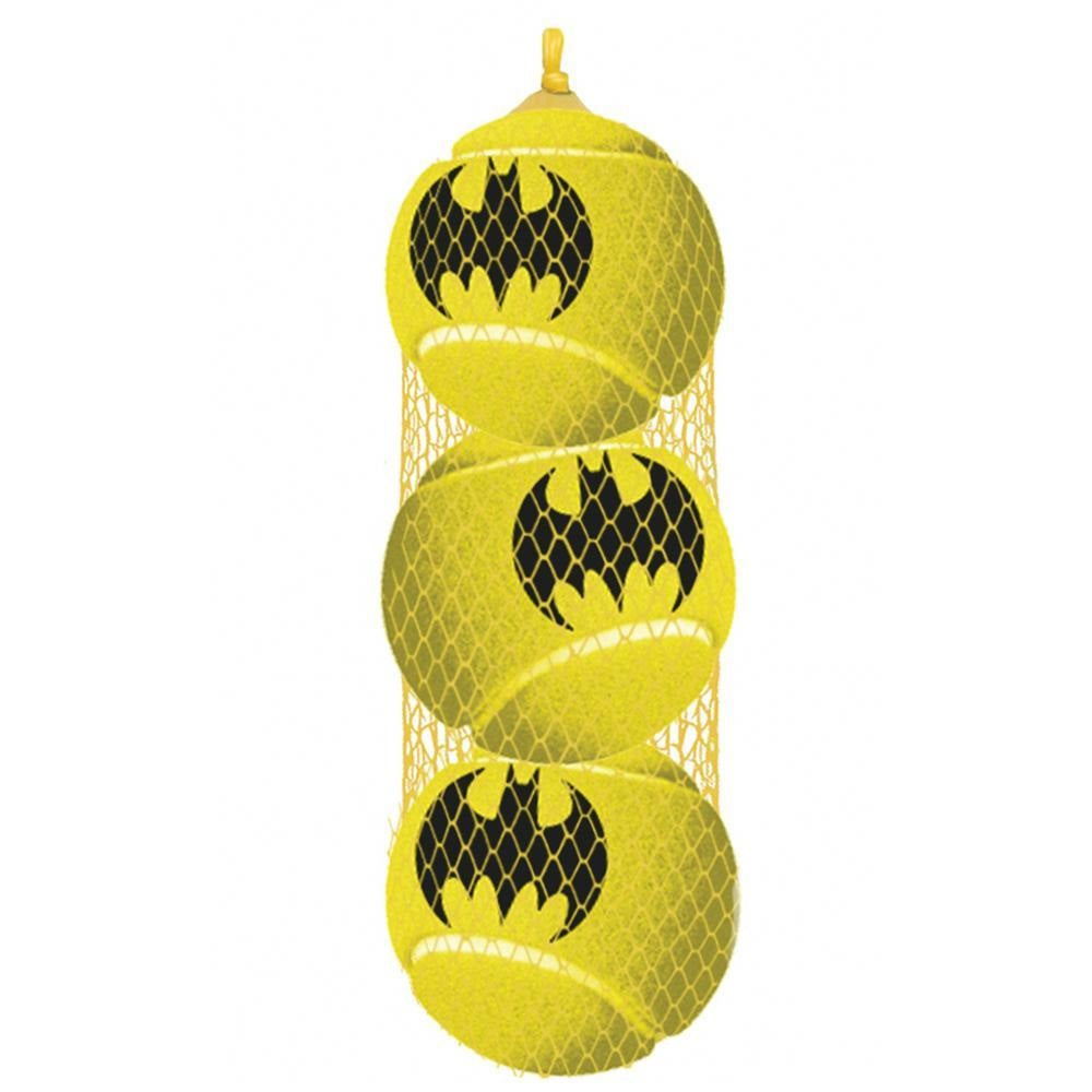Buckle-Down Batman Pet Dog Squeaky Tennis Ball 3-Pack Toy by Buckle-Down