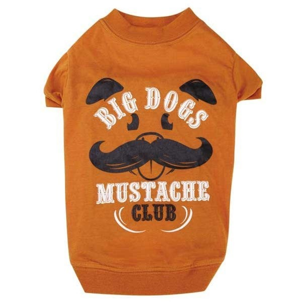 Big Pet Dogs Mustache Club Pet Dog Tee by Pet Edge