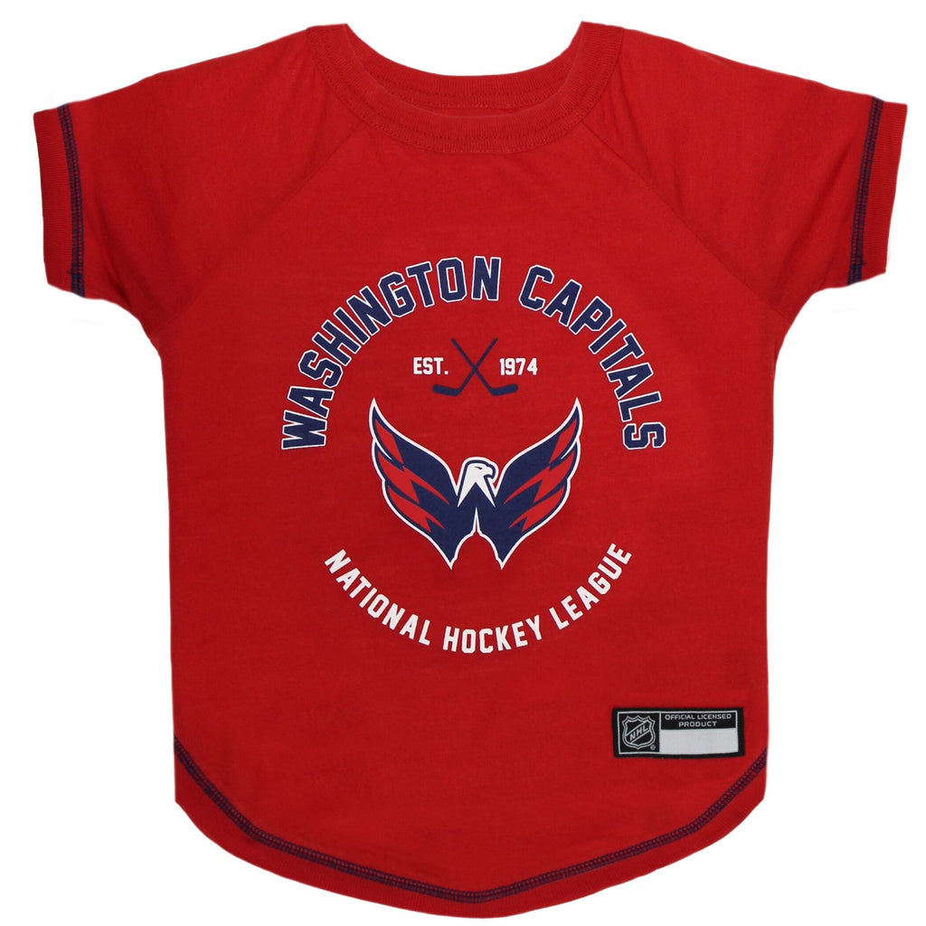 Washington Capitals Pet Dog T-Shirt by Pets First