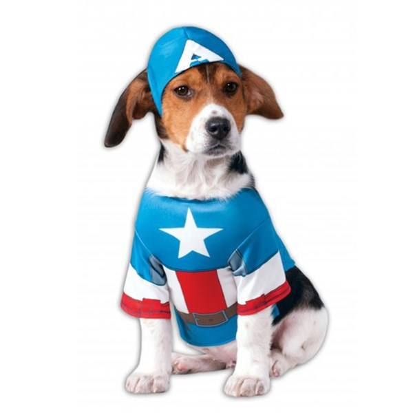 Captain America Pet Dog Costume by Rubie's Costume Co