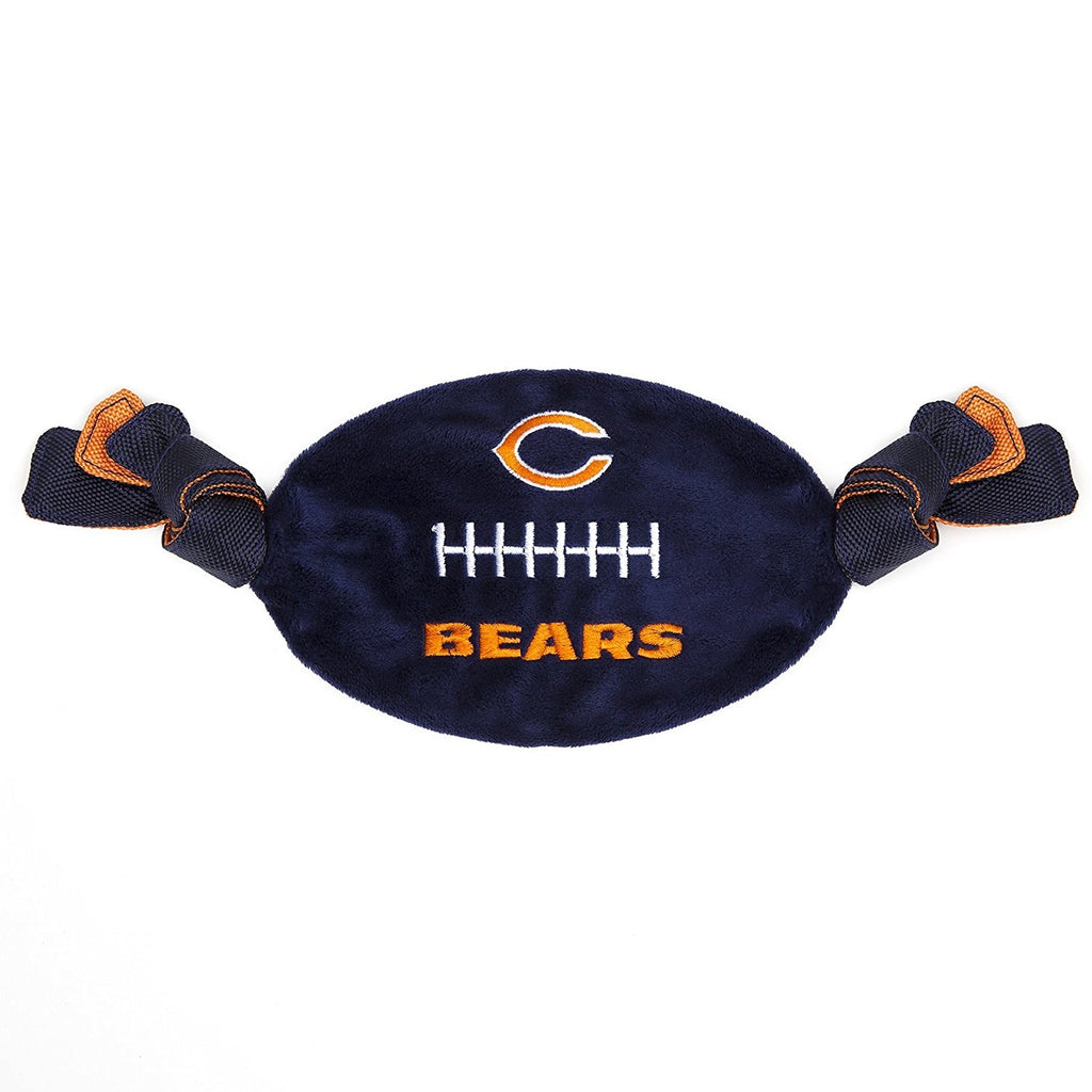 Chicago Bears Flattie Crinkle Football Pet Dog Toy by Pets First