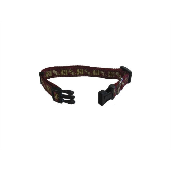 Florida State Seminoles Seminoles Pet Dog Reflective Nylon Collar by Pet Goods Manufacturing