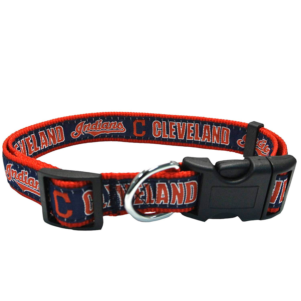 Cleveland Indians Pet Dog Collar by Pets First