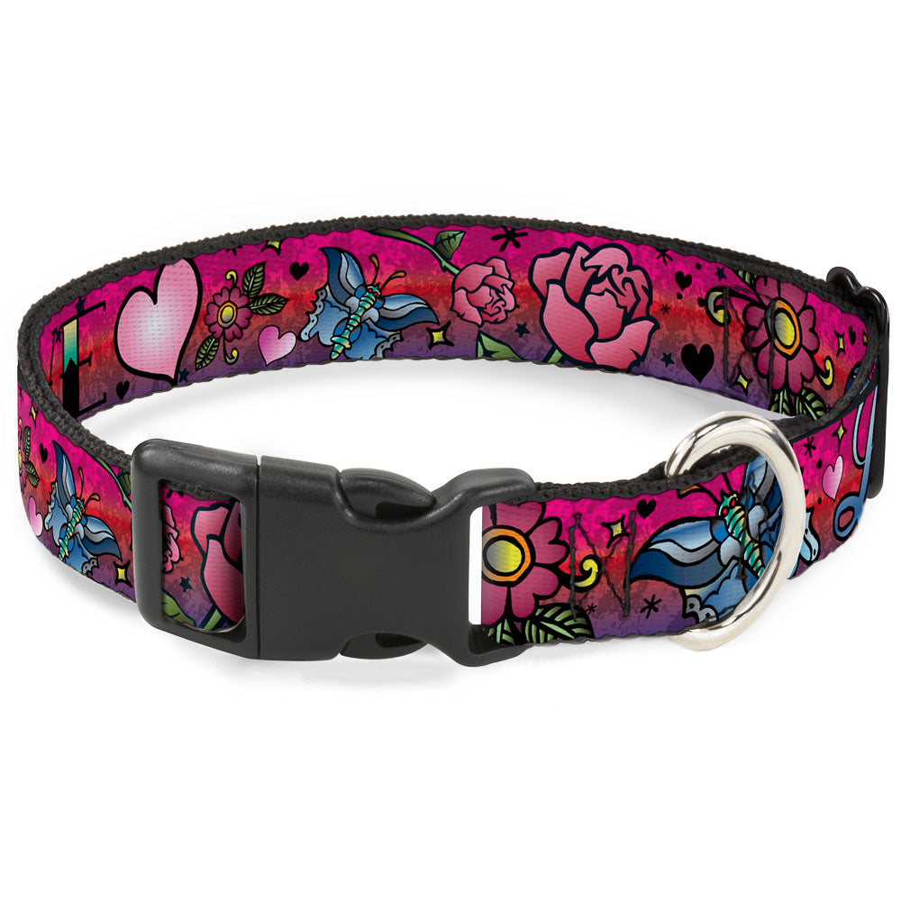 Buckle-Down Love Love Pink Pet Dog Collar by Buckle-Down