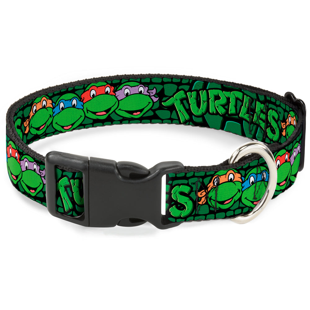 Buckle-Down Classic TMNT Group Faces Pet Dog Collar by Buckle-Down