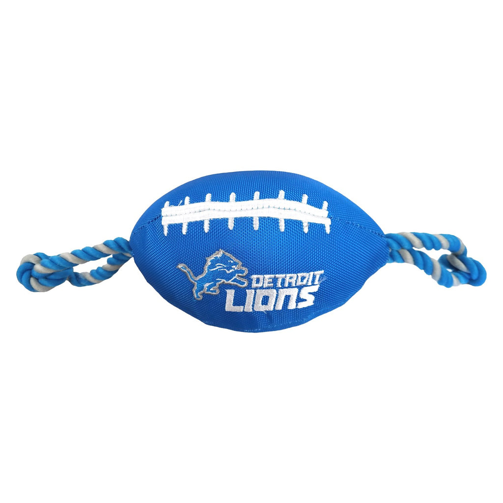 Detroit Lions Pet Dog Nylon Football Toy by Pets First
