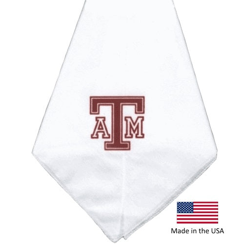 Texas A&M Aggies White Pet Dog Bandana by Smart Dog Products