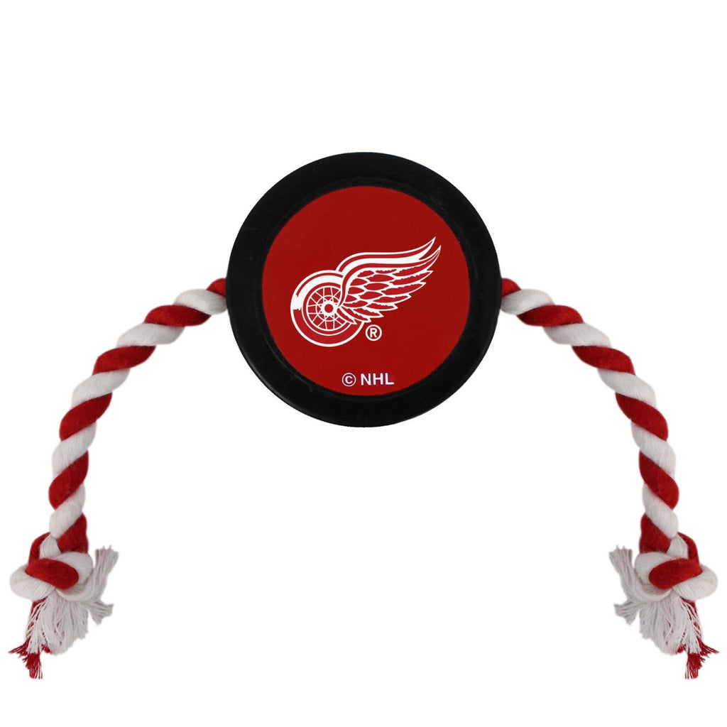 Detroit Red Wings Pet Dog Hockey Puck Rope Toy by Pets First