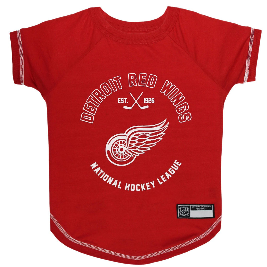 Detroit Red Wings Pet Dog T-Shirt by Pets First