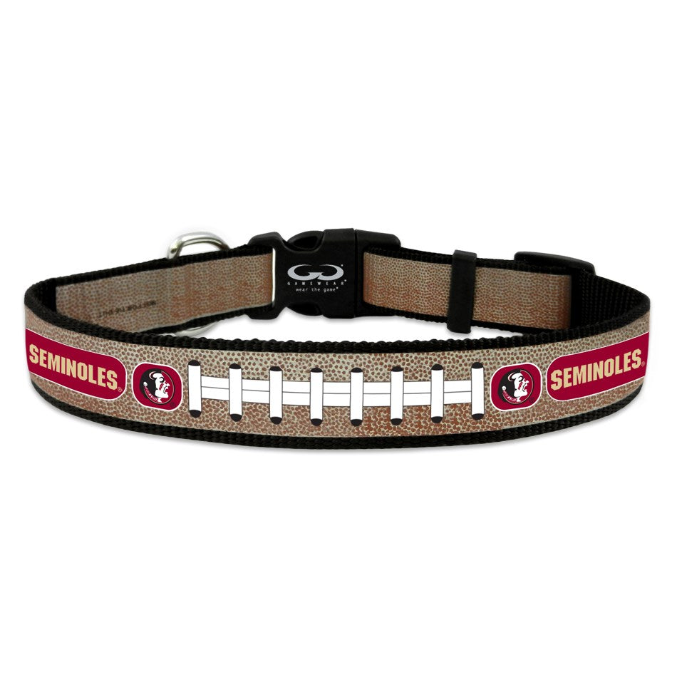 Florida State Seminoles NCAA Reflective Football Pet Dog Collar by GameWear