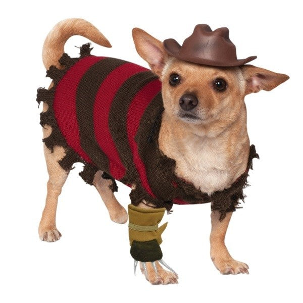Freddy Krueger Pet Dog Costume by Rubie's Costume Co