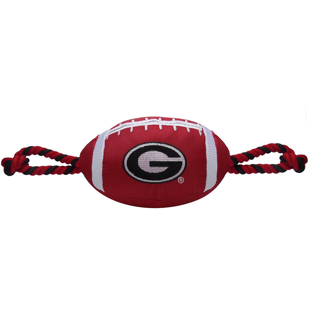 Georgia Bulldogs Pet Dog Nylon Football Toy by Pets First