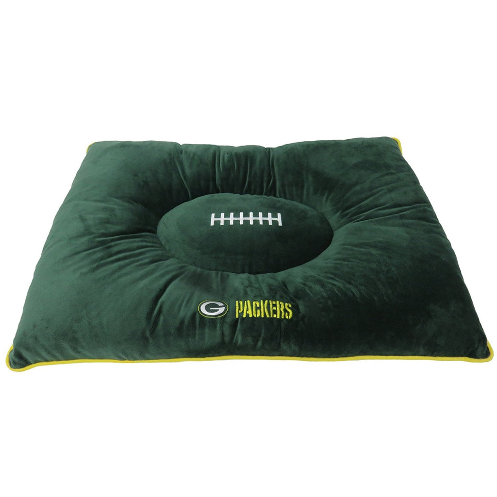 Green Bay Packers Pet Dog Pillow Bed by Pets First