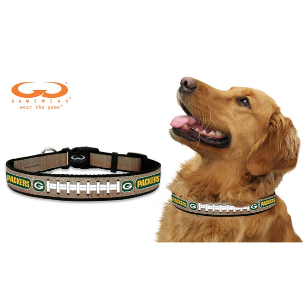 Green Bay Packers Nfl Reflective Football Pet Dog Collar