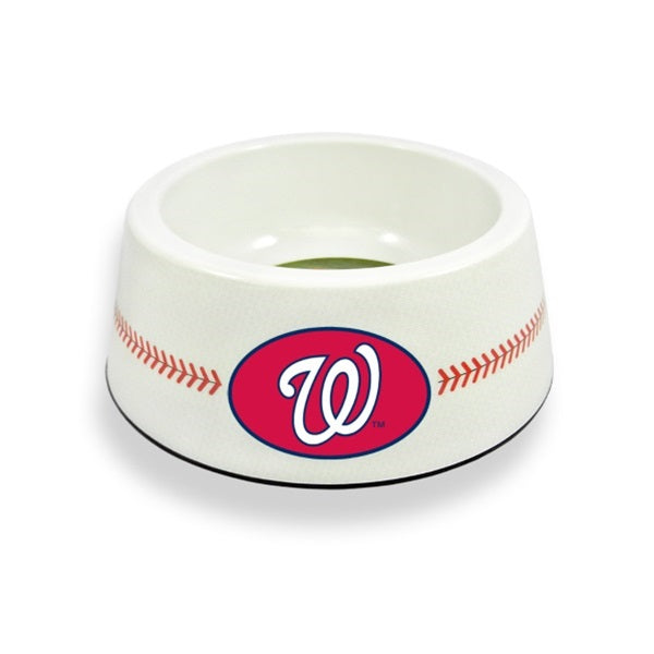 Washington Nationals MLB Classic Baseball Pet Dog Bowl by GameWear