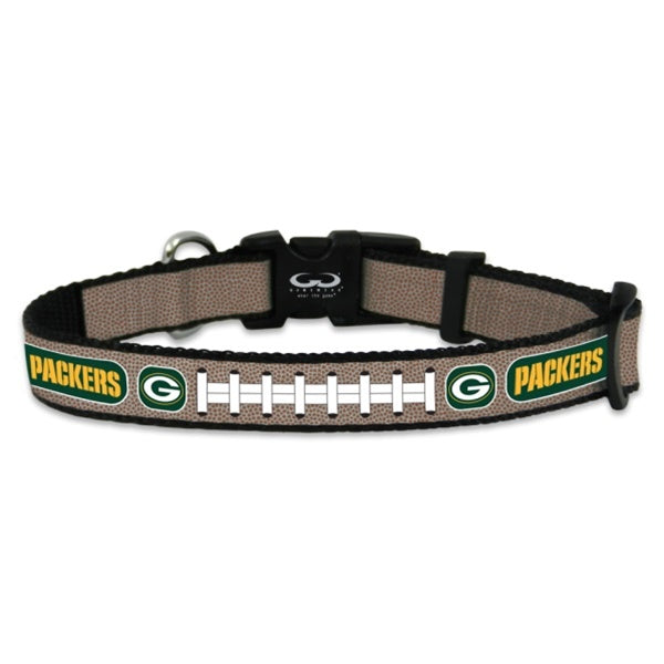 Green Bay Packers NFL Reflective Football Pet Dog Collar by GameWear