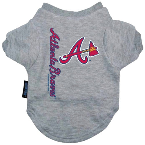 Atlanta Braves Pet Dog Tee Shirt by Hunter