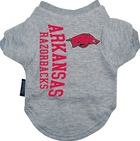 Arkansas Razorbacks Pet Dog Tee Shirt by Hunter