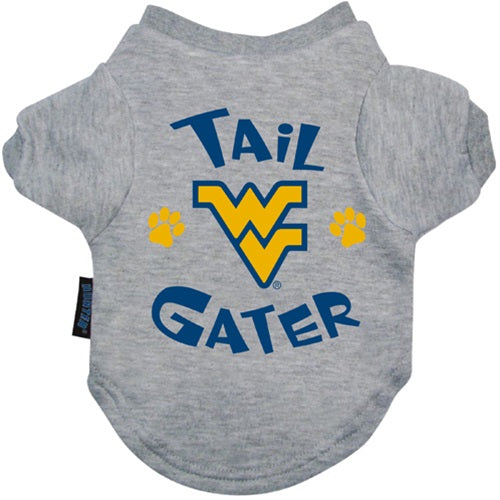 West Virginia Mountaineers Mountaineers Tail Gater Pet Dog Tee Shirt by Hunter