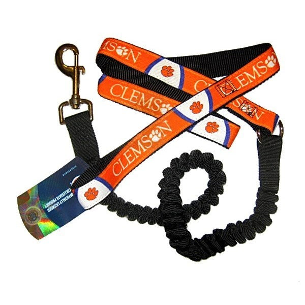 Clemson Tigers Bungee Ribbon Pet Dog Leash by Hunter