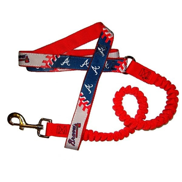 Atlanta Braves Bungee Ribbon Pet Dog Leash by Hunter