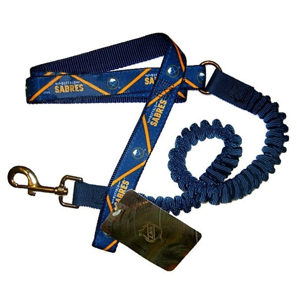 Buffalo Sabres Bungee Ribbon Pet Dog Leash by Hunter