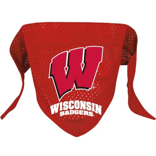 Wisconsin Badgers Mesh Pet Dog Bandana by Hunter