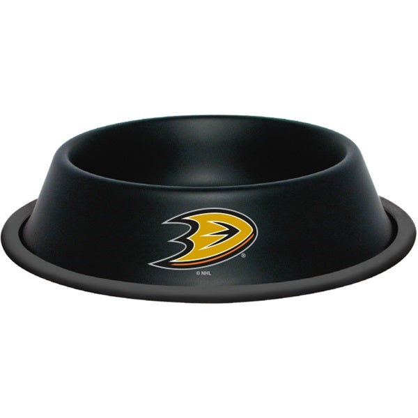 Anaheim Ducks Gloss Black Pet Dog Bowl by Hunter