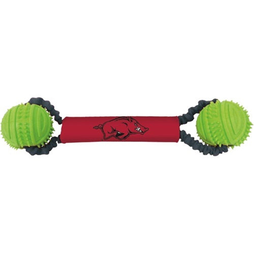 Arkansas Razorbacks Double Bungee Tug-N-Toss Pet Dog Toy by Hunter
