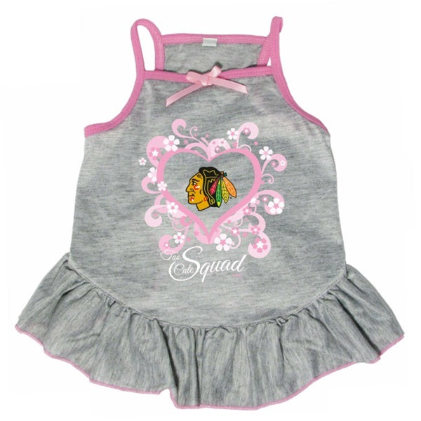 "Chicago Blackhawks ""Too Cute Squad"" Pet Dog Dress by Hunter"