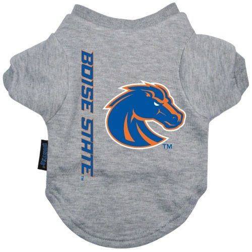 Boise State Broncos Heather Grey Pet Dog T-Shirt by Hunter