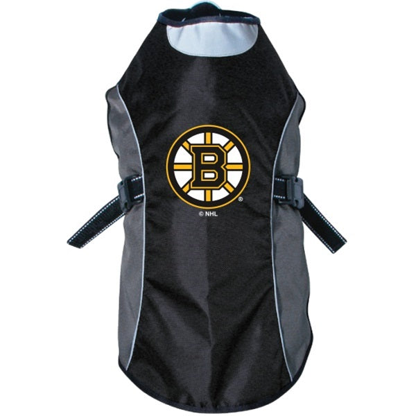 Boston Bruins Water Resistant Reflective Pet Dog Jacket by Hunter