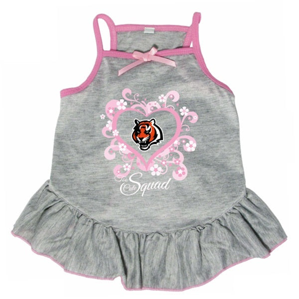 "Cincinnati Bengals ""Too Cute Squad"" Pet Dog Dress by Hunter"